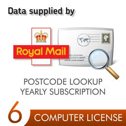 Postcode Lookup PIN 6 Computers 12 Months