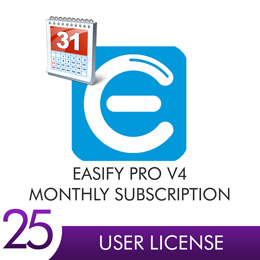Easify Pro V4 - 25 User Licenses Monthly Subscription