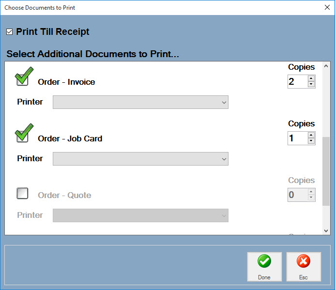 Easify Help - EPOS - Printing Receipts & Other Paperwork