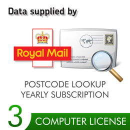 Postcode Lookup PIN 3 Computers 12 Months