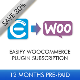 Easify WooCommerce Plugin 12 Month Subscription