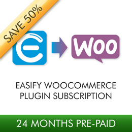 Easify WooCommerce Plugin 24 Month Subscription