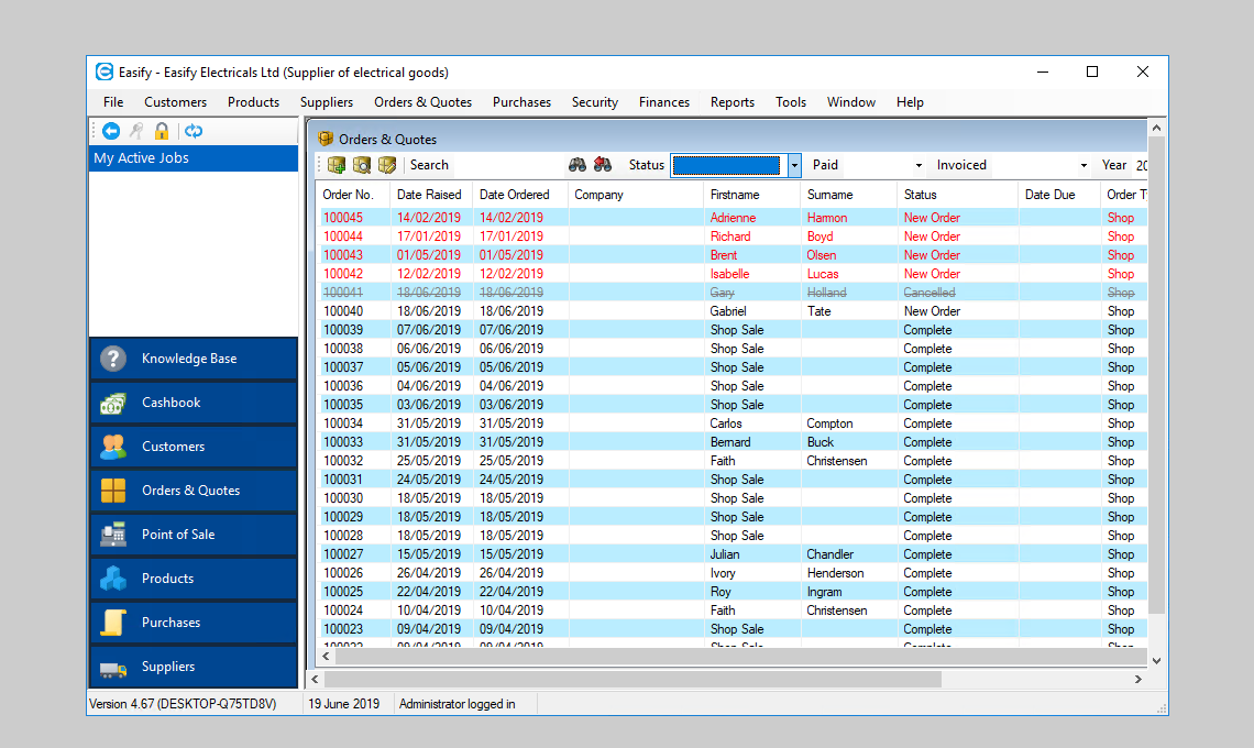 Easify Small Business Software Screenshots